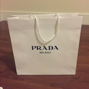 Prada paper shopping bag